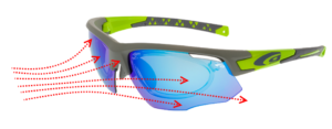 okulary dla biegaczy - ochrona przed wiatrem
